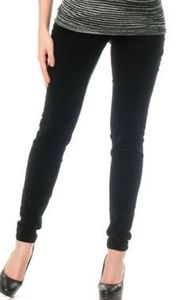 A Pea in the Pod Black skinny full panel cords